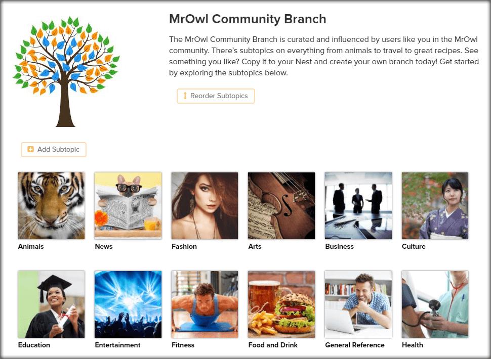 community tree page image