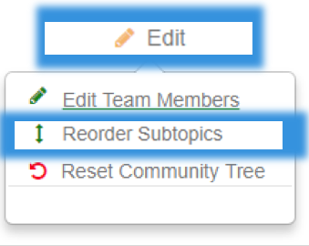 community tree reorder subtopics-button image
