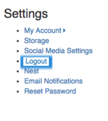 settings logout image