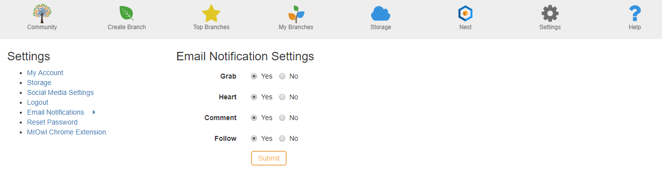 settings notifications image