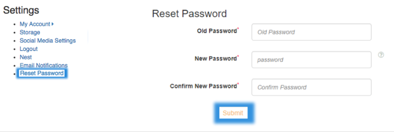 settings reset password image